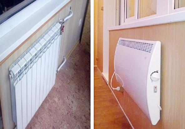 картинка отопление балкона