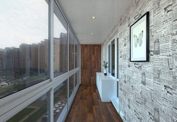 картинка отделка балкона ламинатом