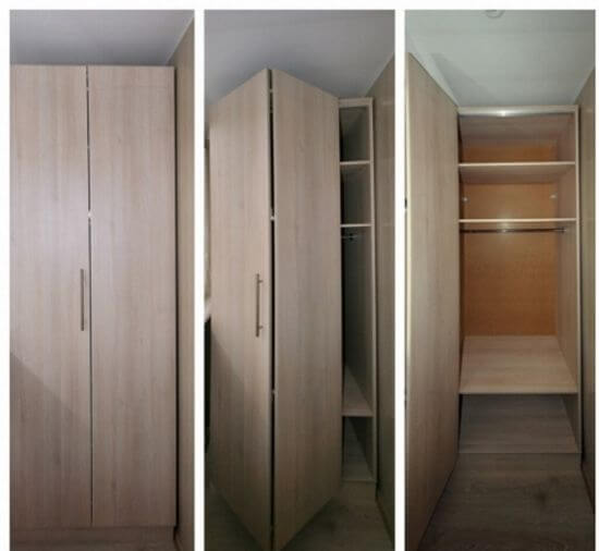 картинка шкаф с дверью-гармошкой