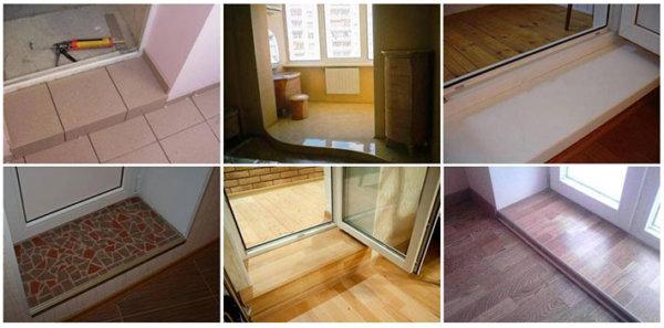 картинка виды балконных порогов