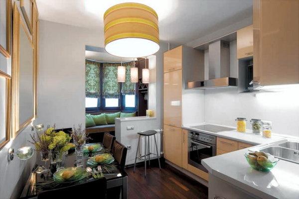 картинка небольшая кухня с балконом