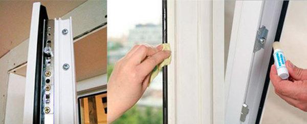 картинка замена уплотнителя пластиковой балконной двери