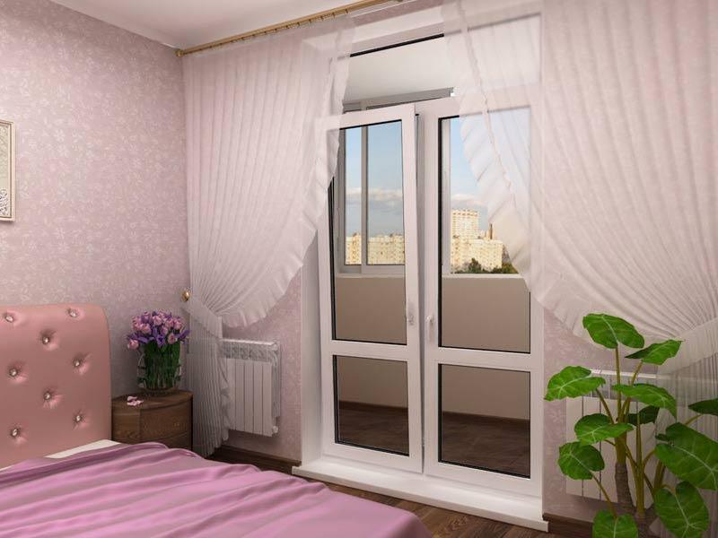 картинка двустворчатая дверь на балкон