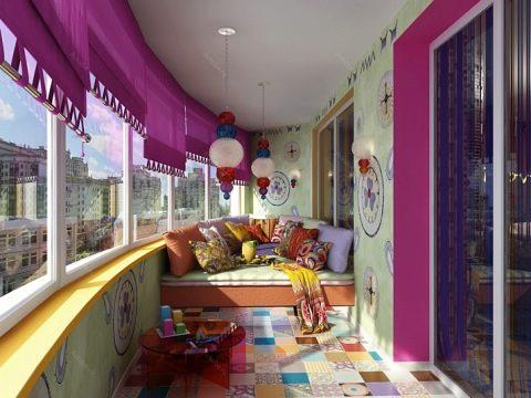 картинка красивый дизайн балкона
