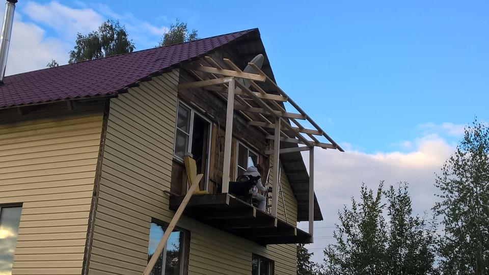 картинка сооружение крыши балкона