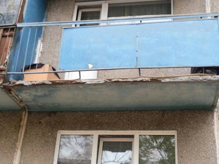 картинка балкон в аварийном состояние