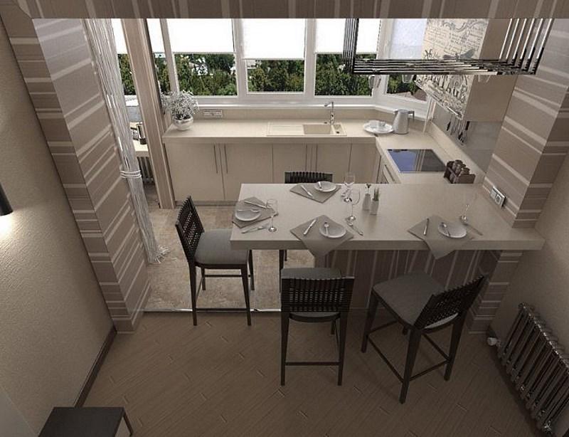 картинка обеденная зона на балконе