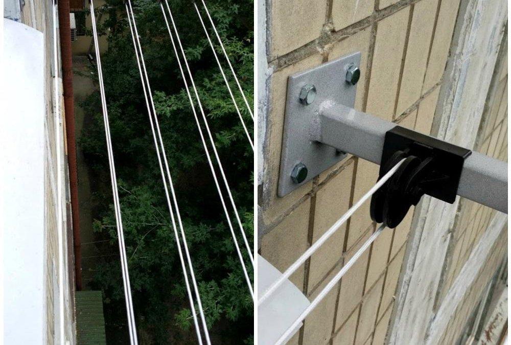 Бельевые веревки на балкон: как выбрать и правильно прикрепить
