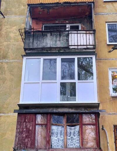 фото балкон Донецк ул Восточная 8 работа Окна Проф 002
