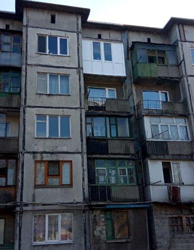 фото балкон Макеевка Гвардейка Тухачевского работа Окна Prof