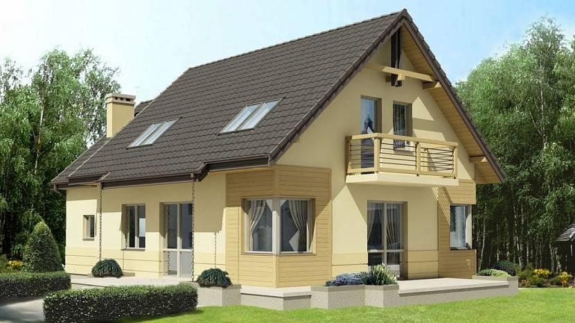 картинка частный дом с балконом