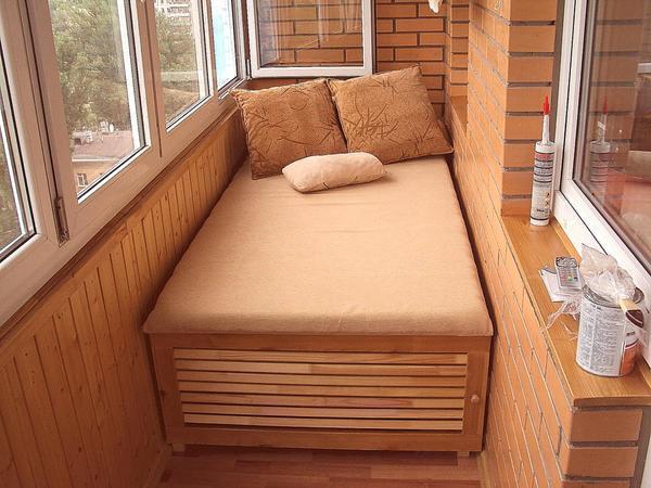 картинка спальня на лоджии
