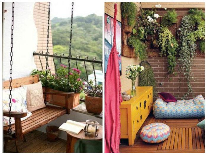 картинка зеленый уголок на балконе