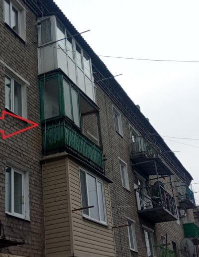 фото французский балкон Макеевка ул Токарева 9 Окна Prof 001