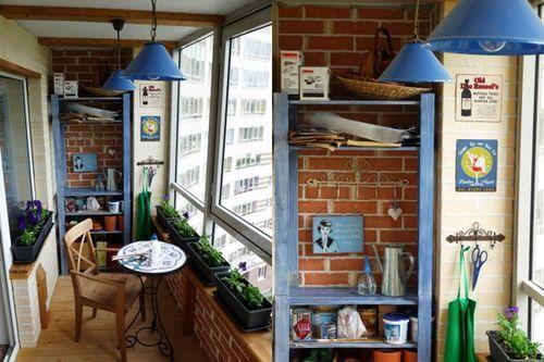 картинка стиль кантри на балконе
