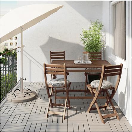 картинка столик на балконе