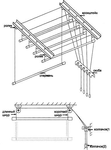 картинка схема устройства балконной «лианы»