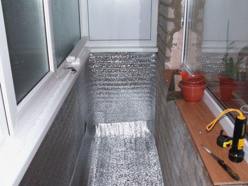 картинка утепление балкона пенофолом