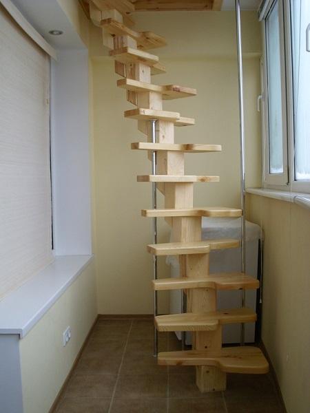 картинка полочки из лестницы