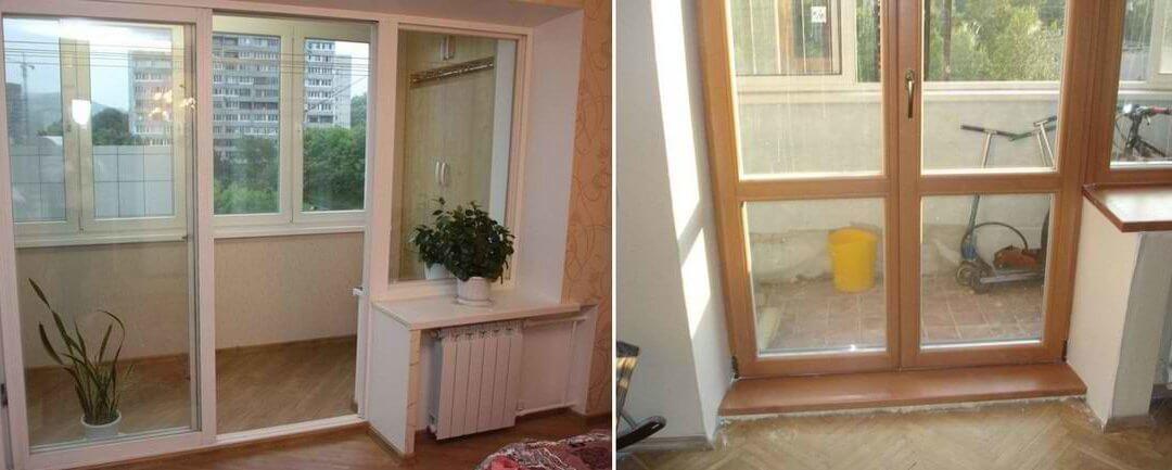 Замена балконного блока – этапы перепланировки квартиры