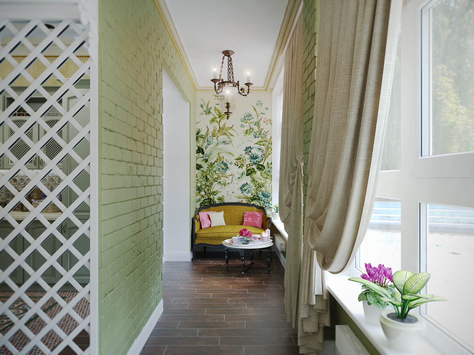 картинка текстиль на балконе