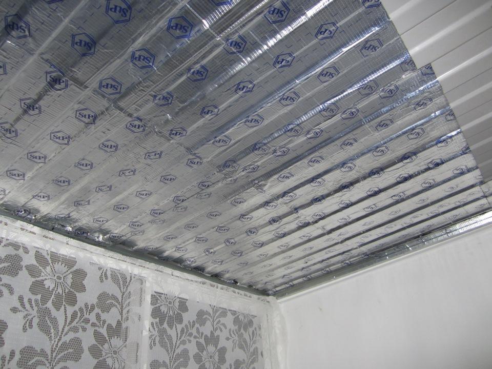 картинка шумоизоляция крыши балкона