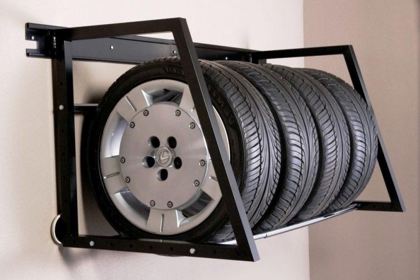 картинка полочка для хранения шин