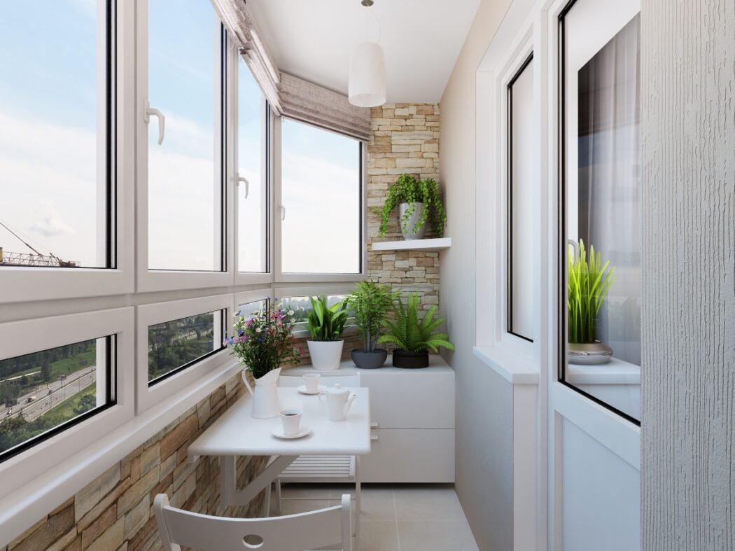 картинка теплое остекление балкона