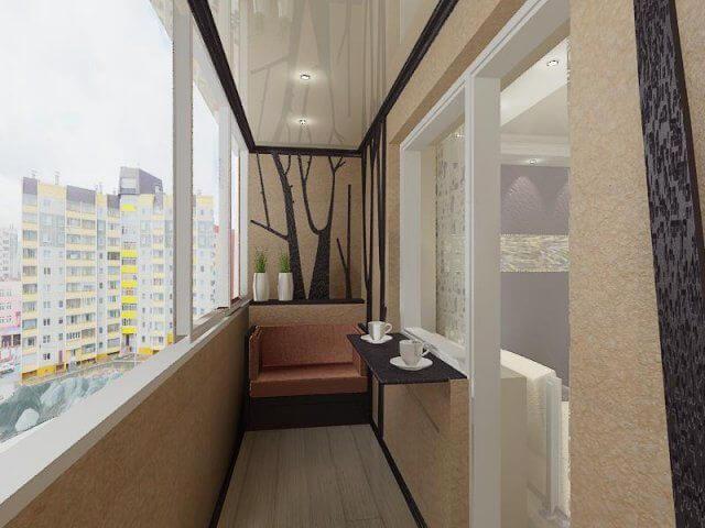 Дизайн балкона 3 метра