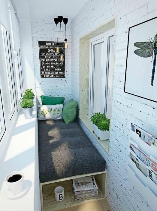картинка продолжение спальни на балконе