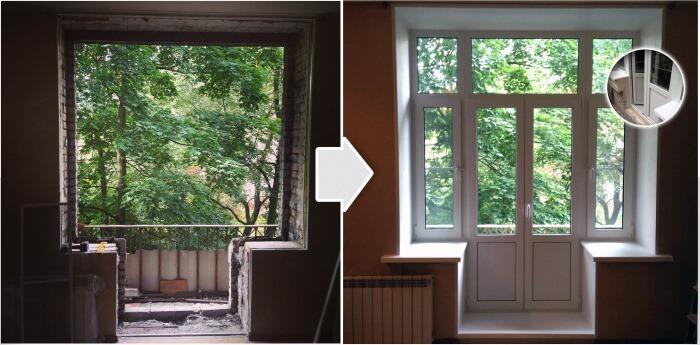 картинка замена балконного блока