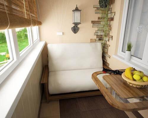 картинка мебель на балконе