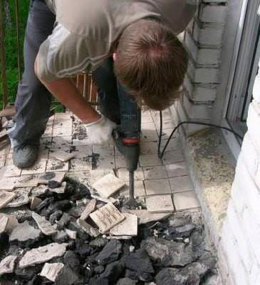 картинка демонтаж старого покрытия