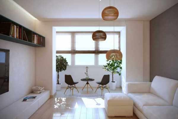 картинка балкон в гостиной