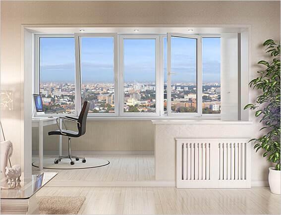 картинка соединение балкона с комнатой