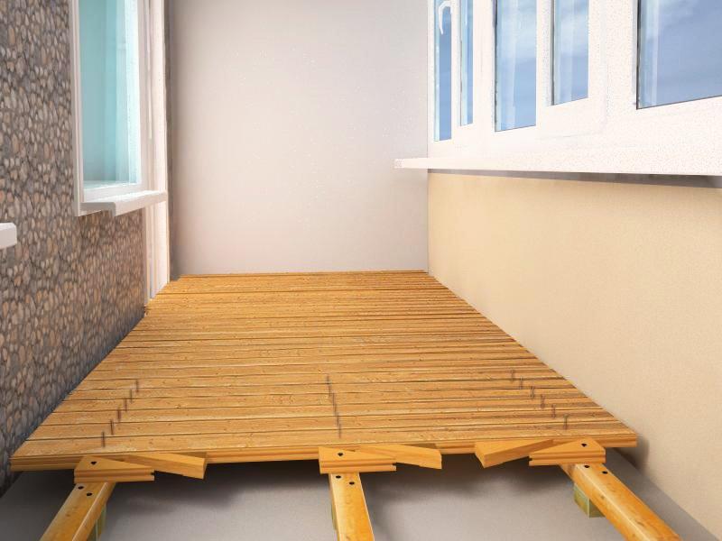 картинка деревянный пол на балконе