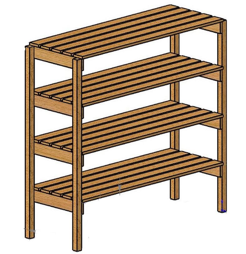 картинка деревянный стеллаж