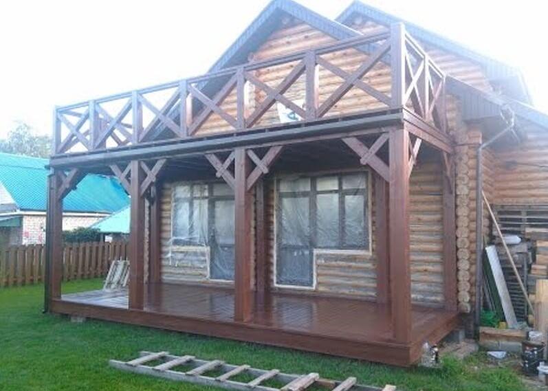 картинка деревянная терраса