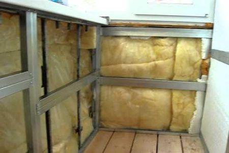 картинка утепление балкона минеральной ватой