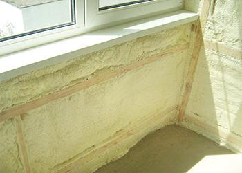 картинка утепление балкона ППУ