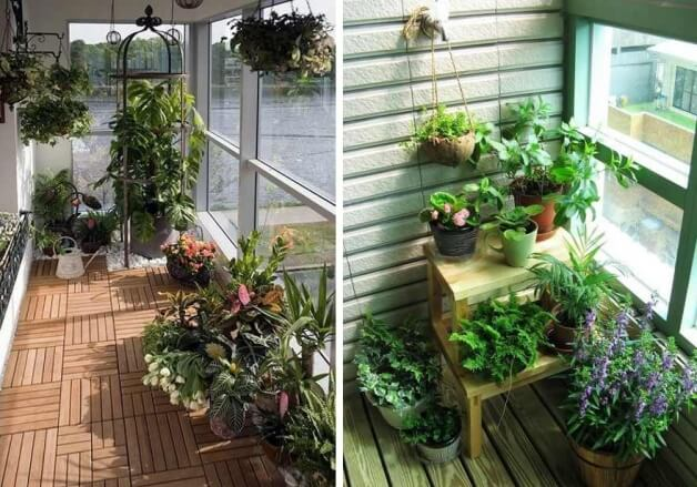 картинка сад на балконе