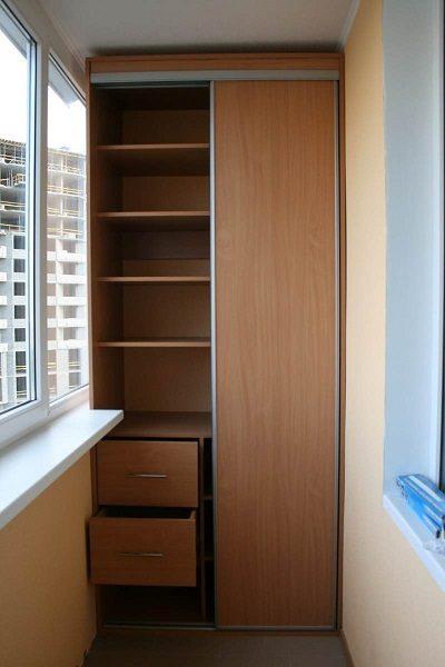 картинка гардеробная для маленького балкона