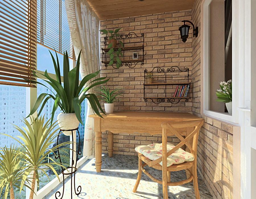 картинка Балкон в стиле Прованс