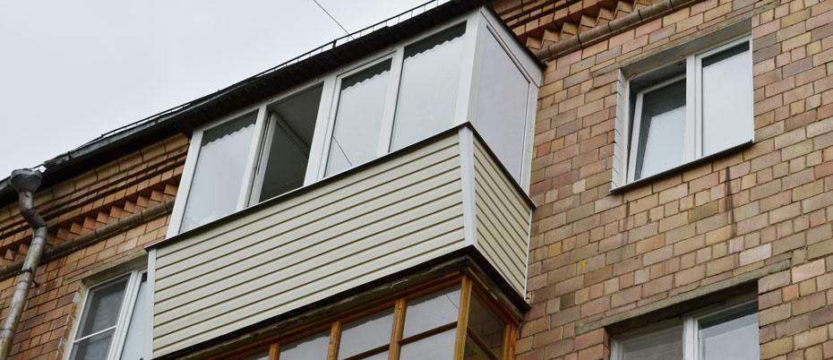 Остекление балкона на последних этажах