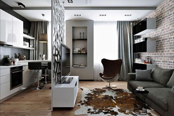картинка кухня совмещенная с гостиной