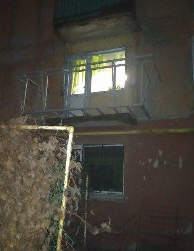 фото балкон с расширением Горловка работа Окна Проф 009