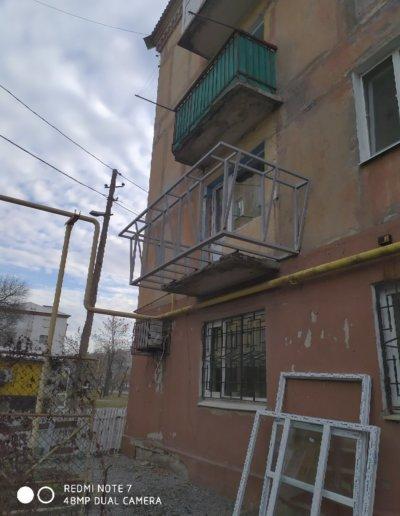 фото балкон с выносом Горловка работа Окна Проф 005