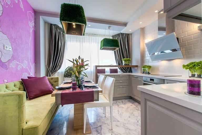 Дизайн кухни 8, 9, 10, 11, 12, 13 и 14 кв м с балконом
