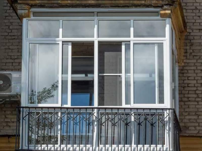 картинка французское остекление балкона