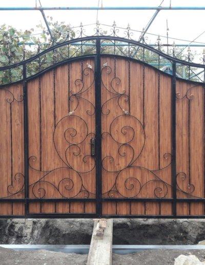 фото кованые ворота в Донецке 002